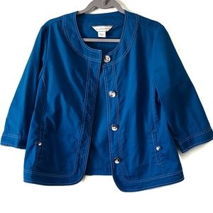 Allison Daley jacket - blue button-up